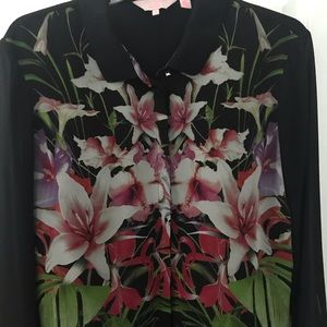Ted Baker Floral Blouse size 4 (10)